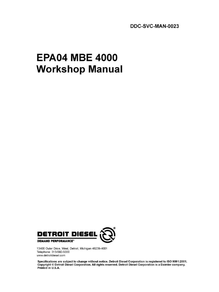 Mbe 4000 Wiring Diagram Product Diagrams Detroit Diesel Schematics Manual Taller Turbocharger Internal Combustion Engine Rh Es Scribd Com Ecm Starter