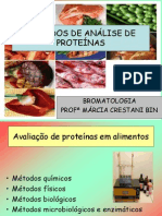 Aula 6 Métodos de análise de proteínas