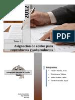 CONTABILIZACIÓN DE SUBPRODUCTOS Y DE SALDOS