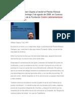 Discurso de William Ospina al recibir el Premio Rómulo Gallegos