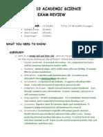Gr 10 Ac Sci Final Exam Review