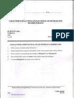 Percubaan Pahang - Science Upsr 2010