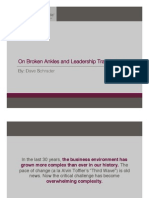 Leadership Development - On Broken Ankles and Leadership Transitions