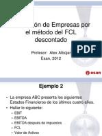 Valorizacon de Empresas Por FCL Descontado Ejemplo
