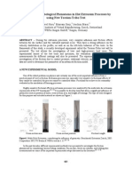 Analyzing the Tribological Phenomena in Hot Extrusion Processes By