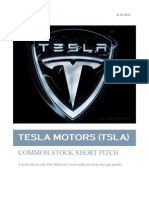 Tesla Motors (TSLA)  Pitch