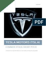 Tesla Motors (TSLA)  Pitch