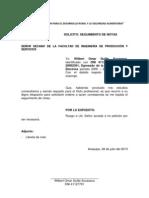 Solicitud Certificados de Estudios Unsa