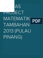 Kertas Project Matematik Tambahan 2013 (PULAU PINANG)