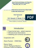 Presentation Workshop JR Klepaczko  2009 Effect of strain rate on ductile fracture
