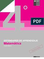 Estandares de Aprendizaje Matematica 4 Basico