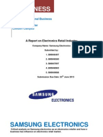 Samsung as an  electronic retailer,