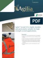 AGILIA High Strength Floor Screed Datasheet