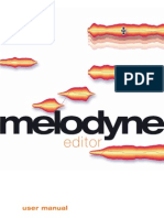 Manual Melodyne Editor 1.2 English