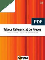 Sinapro - Tabela Referencial de Preços