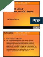 Funciones en SQL Server