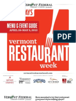 2013 Restaurant Week Menu Guide