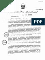 DIRECTIVA N°017-2010 ED - ACCIONES PREVENTIVA ANTE LA INFLUENZA AH1N1