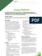 ProdSheet Tieto Gateway Platform V1.3