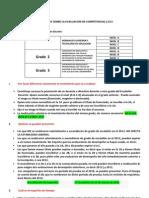 Aclaracion de Dudas Evaluacion de Competencias 2.013