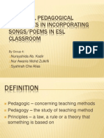 G4 Essential Pedagogical Principles in Incorporating Songs & Poetry in ESL Classroom