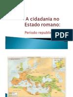 A Cidadania No Estado Romano Historia