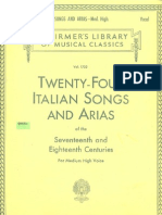 Twenty-Four Italian Songs and Arias