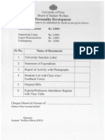 8Personality Developement Check List