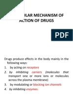 Molecular Mechanisms of Drug Action
