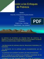 Introducción a los enfoques de la pobreza 2009