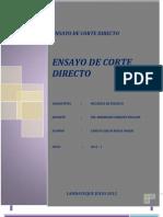 Ensayo de Corte Directo