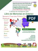 XIII Congreso internacional de Ed física, deporte y recreación - méxico