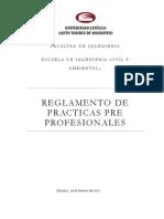 Reglamento practicas preprofesionales