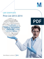 Lab Essentials Price List 2013 2014