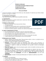 Dicas Para Estudo - 2013