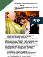 (223) Los sacramentales –3. El Bendicional y el signo de la cruz-