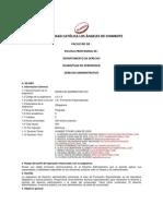 Silabus de Derecho Administrativo