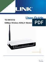 Tp Link Td 18101g Guide