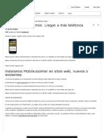 Mobile-Los Sitios Web Joomla!