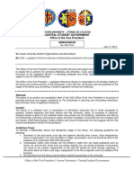 XU-CSG OVP Memorandum 004-1314
