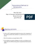 Tutorial Computational Methods for Aeroacoustics