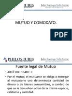 Mutuo y Comodato X.
