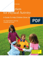 Best Practices for Physical Activity