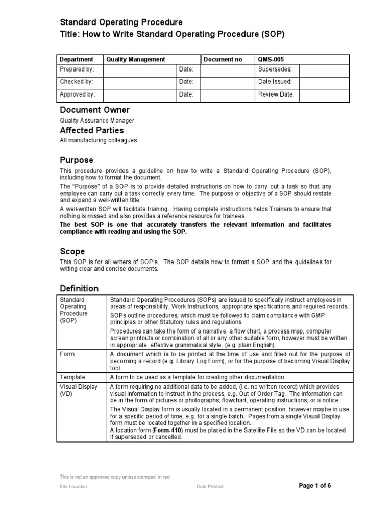 QMS 005 Sample | Documentation | Subroutine