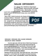 Slide Pengenalan Ortodonti