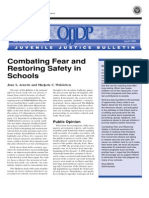 Combating Fear and Restoring Safety in Schools