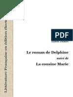 23306 Daudet E Le Roman de Delphine La Cousine Marie