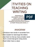 Activities on Teaching Writing