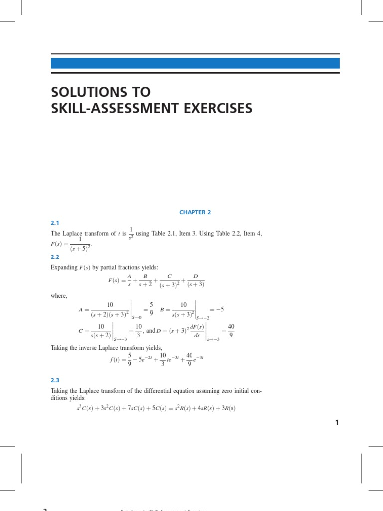 solution of skill assesment exercise of control system engineering rh es scribd com solution manual control systems engineering nise 6th edition solution manual control systems engineering nise 6th edition