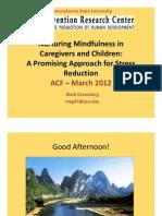 Nurturing Mindfulnessi
